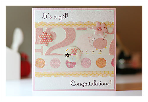 It's a girl card for blog