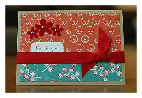 Thank you card for blog