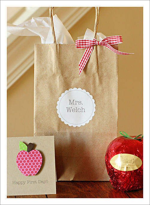 First day teacher gifts for blog