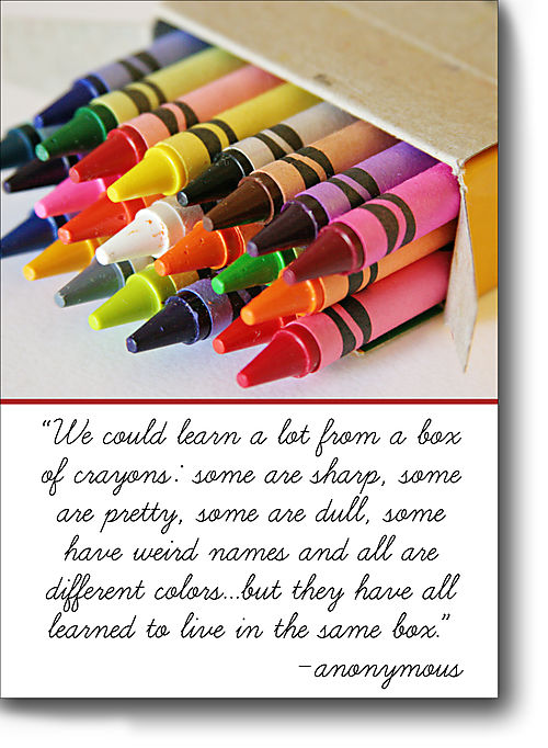 Thursday's thought crayons for blog