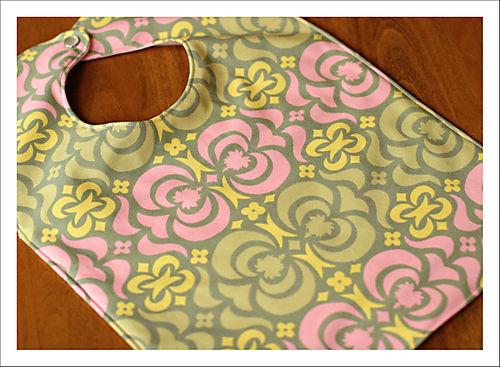 Amy butler fabric bib for blog