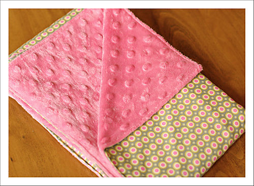 Minky blanket for blog