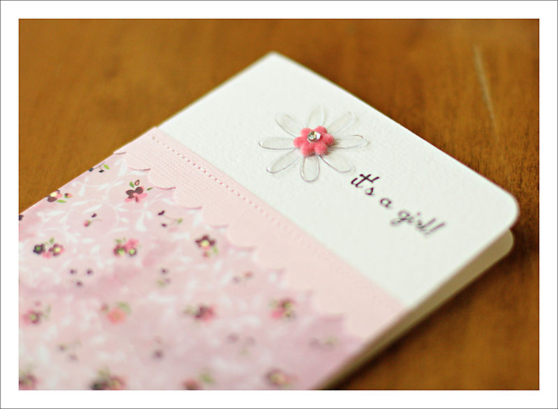 It's a girl card close-up for blog