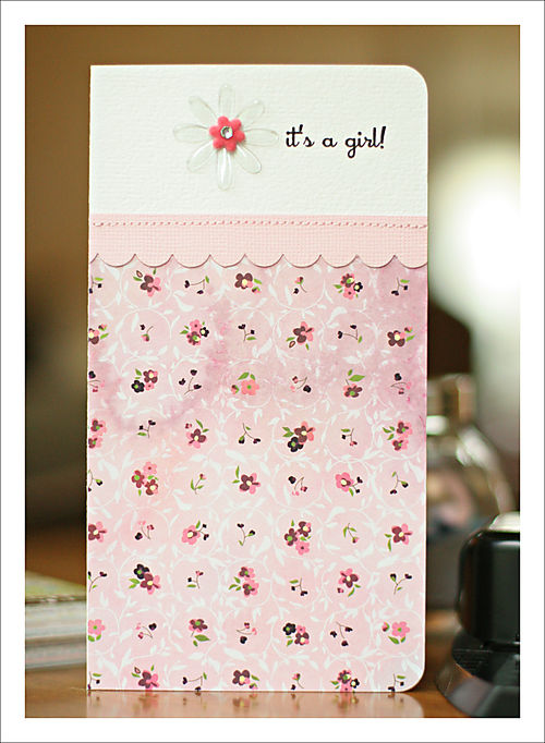 It's a girl card 5x7 for blog