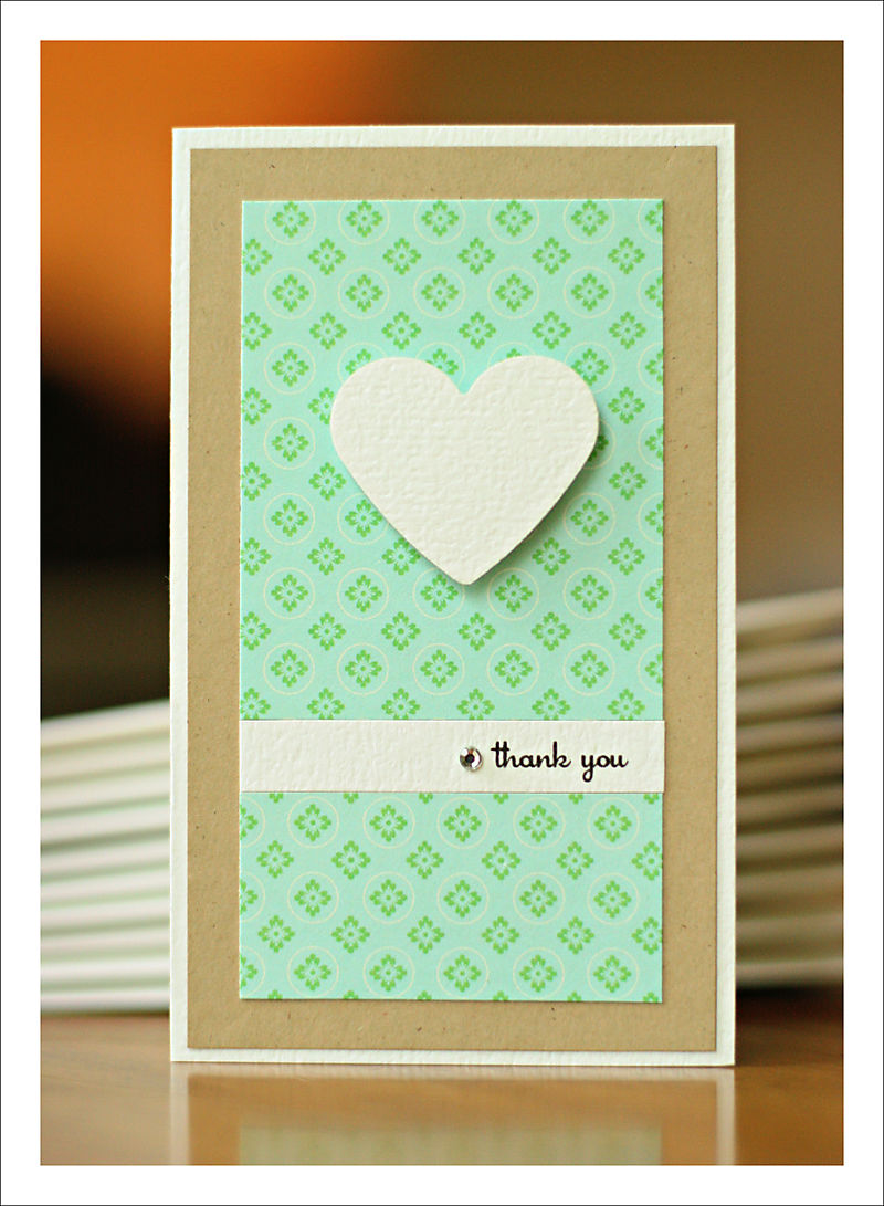Thank you card for party for blog