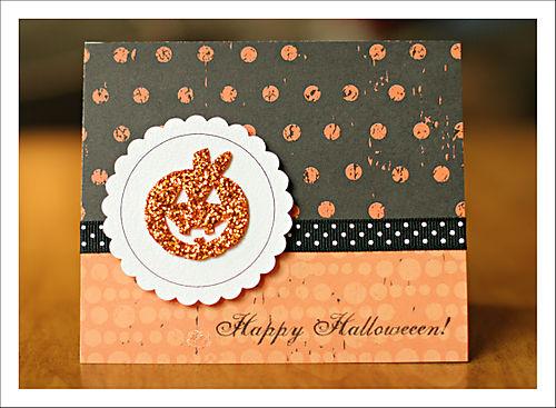 Happy halloween card for blog