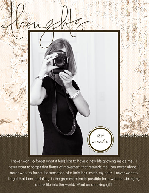 Thoughts pregnancy layout for posting