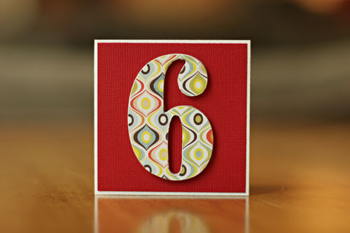'6' card red