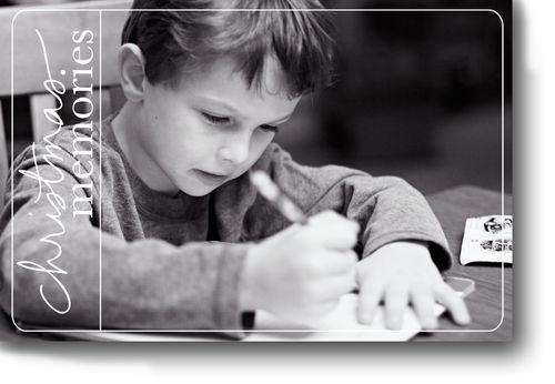 Sean writing letter for blog