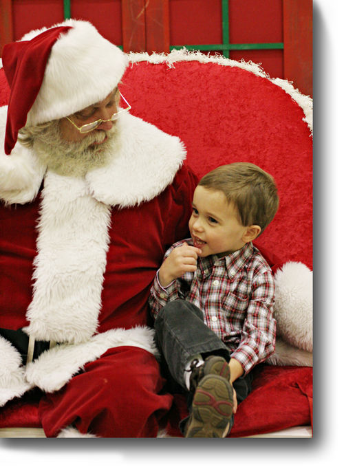 Luke and Santa for blog