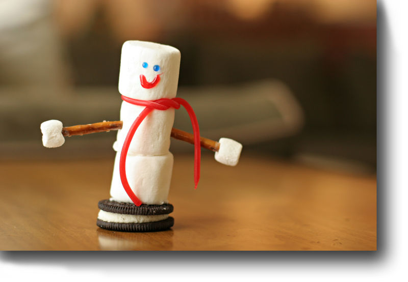 Marshmallow snowman for blog