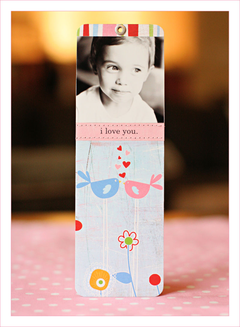 Valentine's bookmark for blog