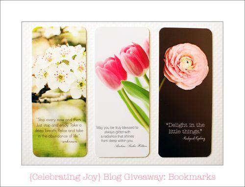 Blog Giveaway Bookmarks