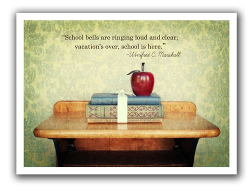 Thursday's thought first day of school for blog