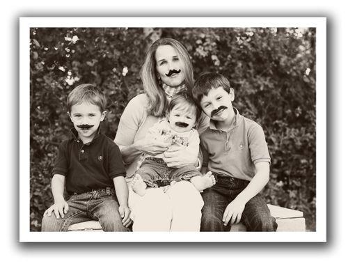 Mustache family for blog