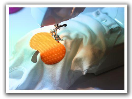 Pumpkin onesie sewing