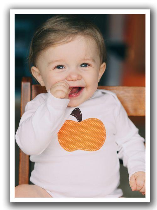 Pumpkin onesie model two blog