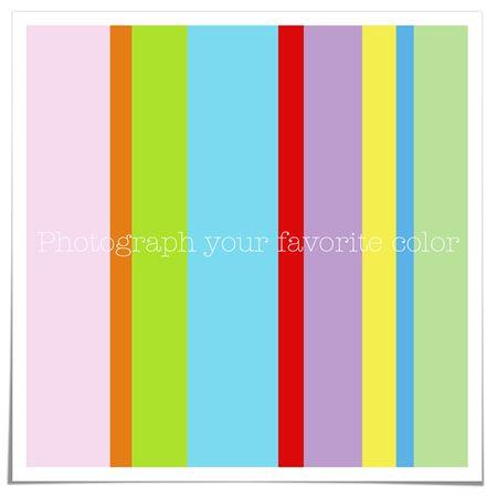 Photograph color blog