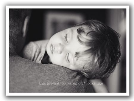 Tuckered out blog