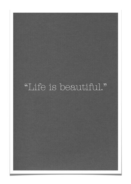 Life is beautiful blog
