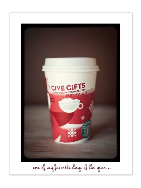 Red cup day blog