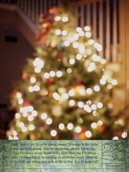 December daily 23 blog