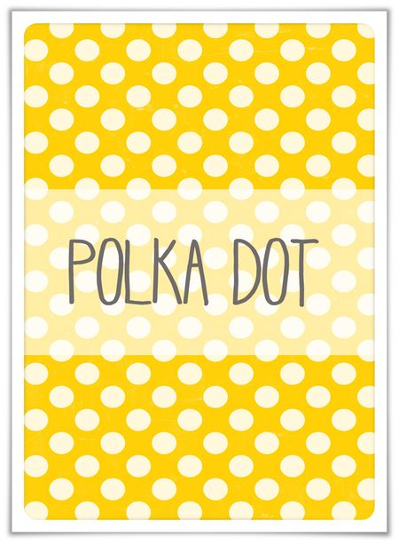 Polka dot prompt