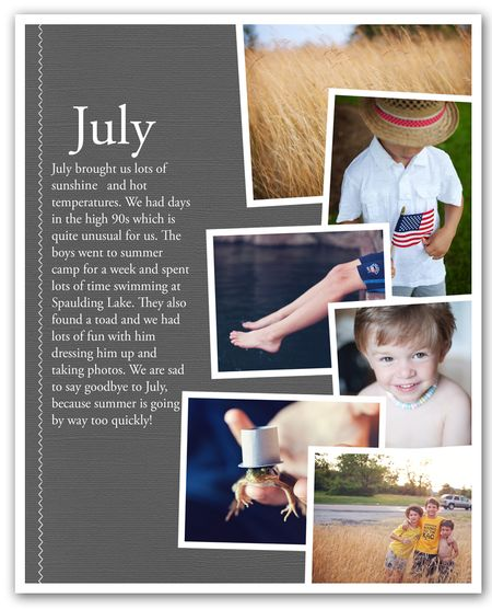 July newsletter typepad