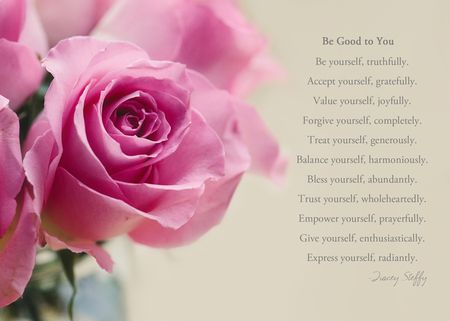 Poem--be good to you blog