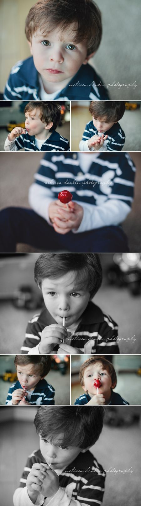 A boy and his lollipop
